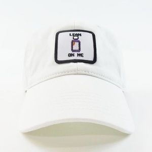 Lean On Me Dad Cap - White