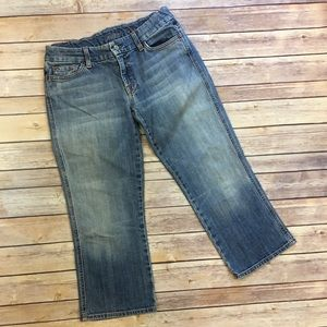 7 For All Mankind A Pocket Capri Jeans