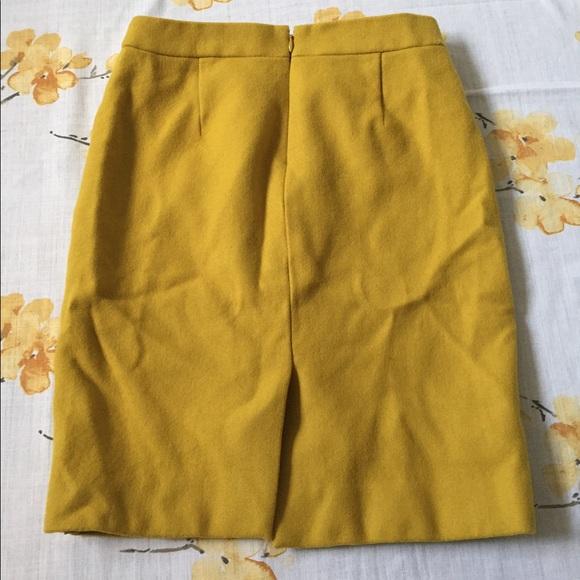 67 j crew dresses skirts mustard yellow wool j