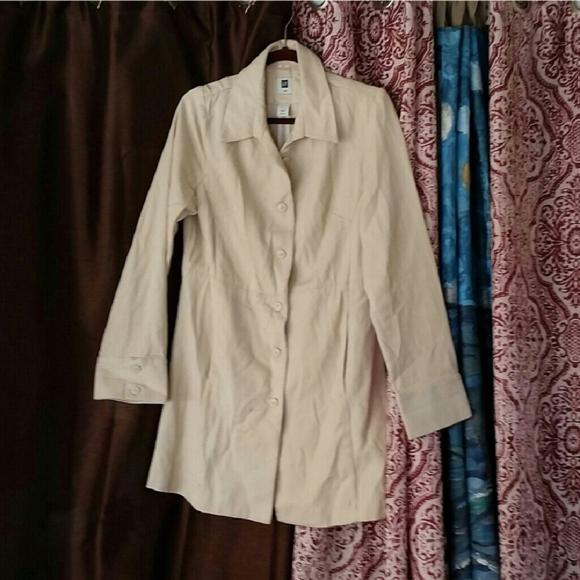 GAP Jackets & Blazers - Beige Canvas Trench Coat