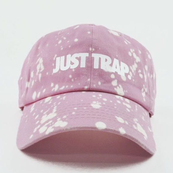 Stussy Accessories - Bleached Just Trap Dad Cap - Pink