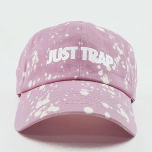 Bleached Just Trap Dad Cap - Pink