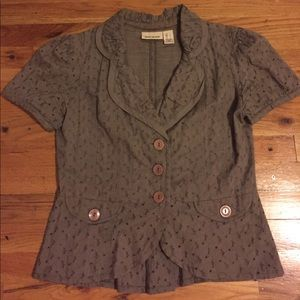 DNKY light brown eyelet summer blazer, used