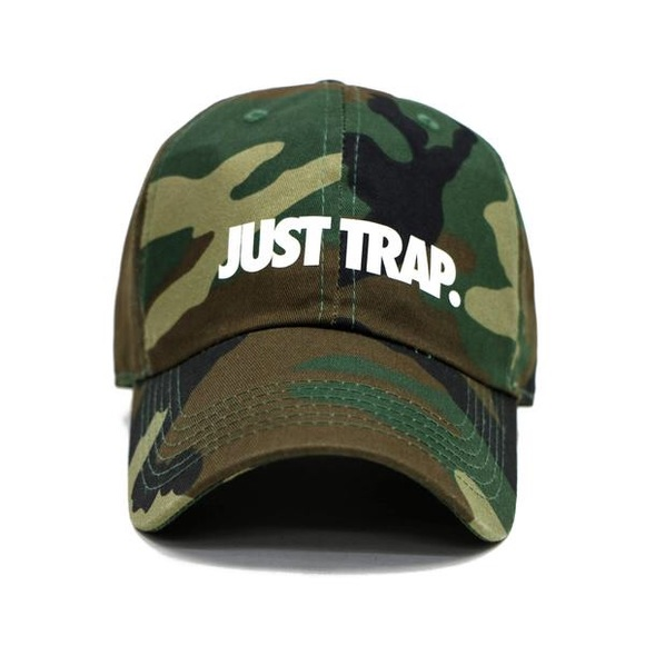 Stussy Accessories - Just Trap Dad Cap - Camo
