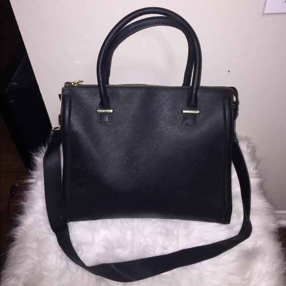 H M Bags   Black Hm Satchel Side Bag   Poshmark dbcdd9b2cf
