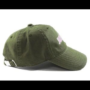 Accessories - Just Trap Dad Cap - Olive w/ Pink