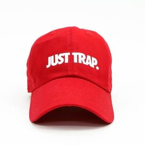Just Trap Dad Cap - Red