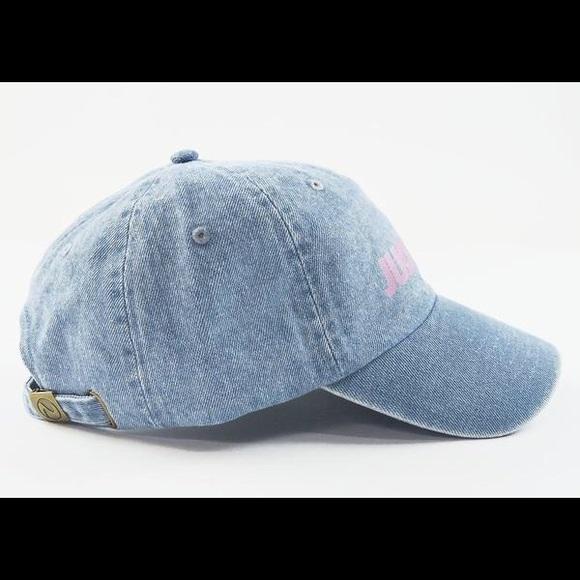 Stussy Accessories - Just Trap Dad Cap - Denim w/ Pink