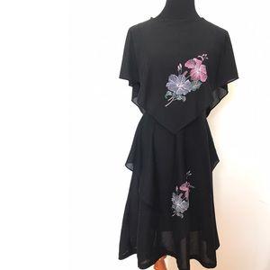 Gorgeous vintage 70's scarf dress