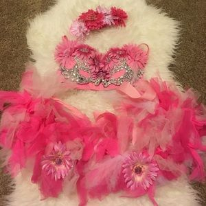 Other - Pink Flower Rave Outfit