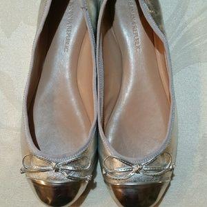 Banana Republic Silver Ballet Flats