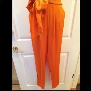 85ac7f312a6 Catherine Malandrino Pants - Catherine Malandrino Silk Halter Neck Bow  Jumpsuit