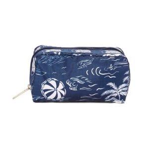 LeSportsac Hawaiian Getaway Blue Makeup Bag