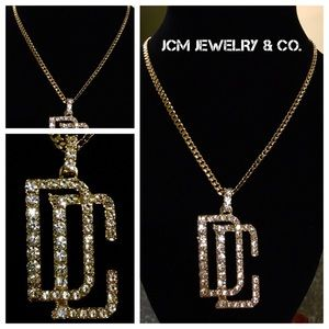 """Other - 14K Gold Plated Cuban w/ 1.5"""" Dream Chaser Pendant"""
