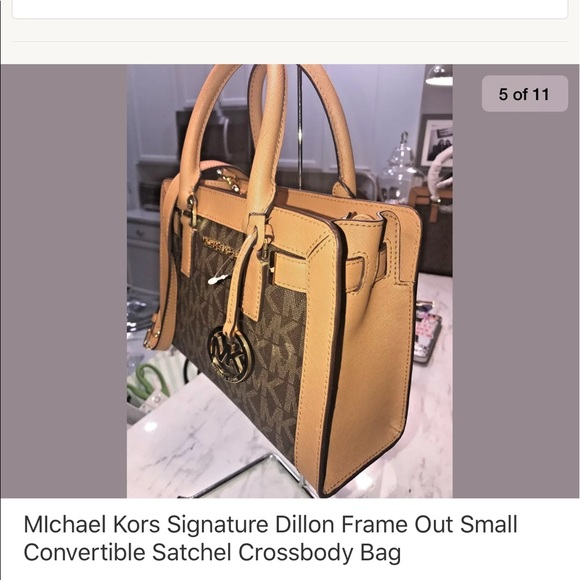 89111232aeb2 Dillon Small Convertible Satchel Brown Acorn