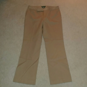 Lauren Ralph Lauren Adelle Khaki Dress Pants