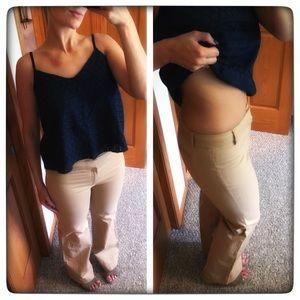 GAP 8R Wide Leg stretch tan trouser pants
