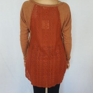 NWT ANTHROPOLOGIE  crochet back detail Sweater Top