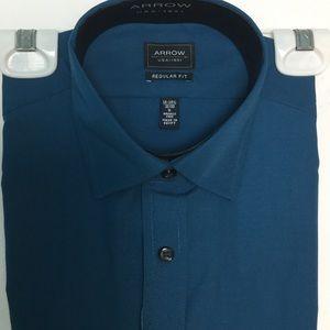 Arrow 14 14 1/2 S Dress Shirt 32 33 Blue Teal NWT