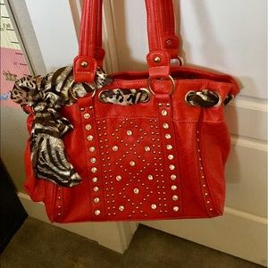 Handbags - FINAL- Beautiful red and crystal bag