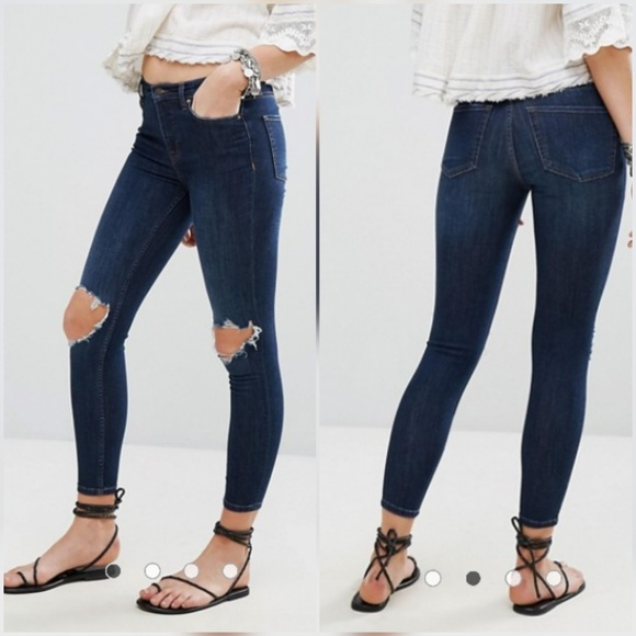 c1e5ac88c Free People Jeans | Busted Knee High Rise Skinny | Poshmark