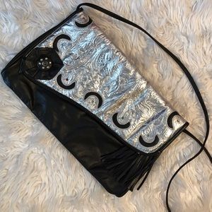 Handbags - Unique Black & Silver Moon Crossbody/Shoulder Bag