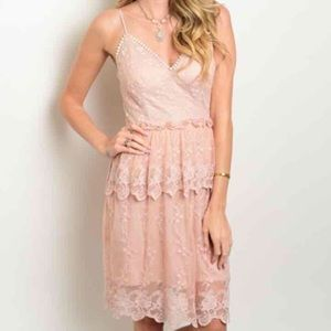 LAST ONE! Small Dusty Pink Lace Dress