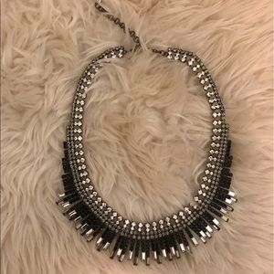 Beautiful black and gray crystal necklace.