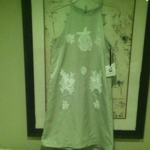 NWT Victoria Beckham lace applique shift dress NEW