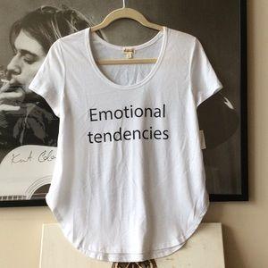 """""""Emotional tendencies"""" Tee"""