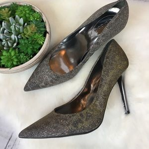 Guess GORGEOUS Shimmery Textured Heels Sz 9 MINT