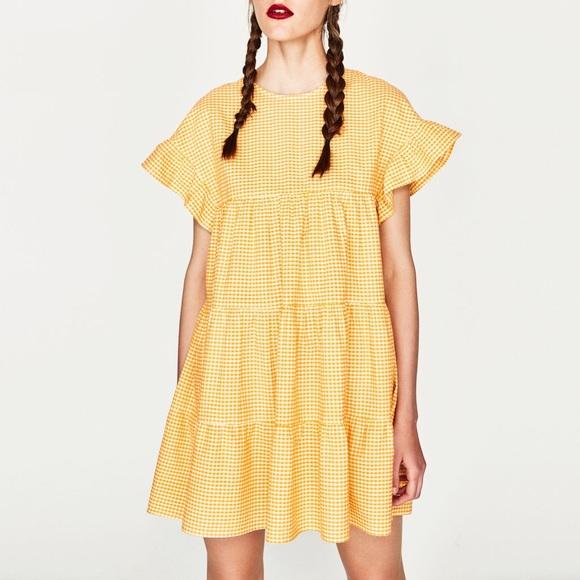 d017872394 ZARA yellow gingham dress, XS. M_5963a880d14d7bcf230be878