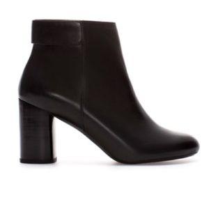 Zara F/W '13 Black Leather Ankle Booties