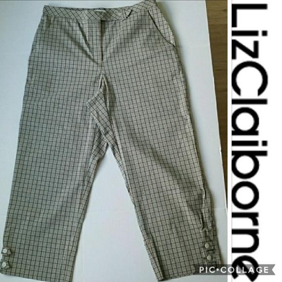3aded5652ca Liz Claiborne Pants - LIZ GOLF Tabitha Plaid Cropped Capri Pants