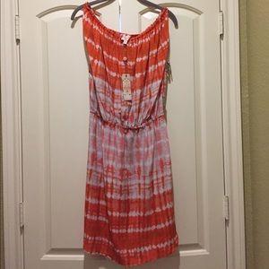 NWT Plenty by Tracy Reese coral/orange/gray dress