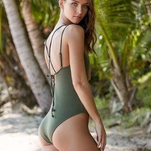 PacSun Swim - Pacsun Olive green one piece swimsuit e7a05695f114
