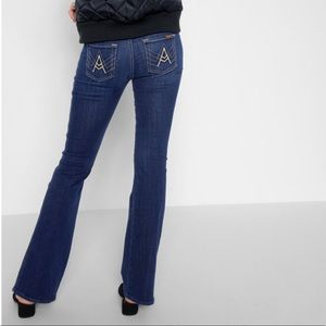 """7 For All Mankind """"A"""" pocket Flare Jean."""