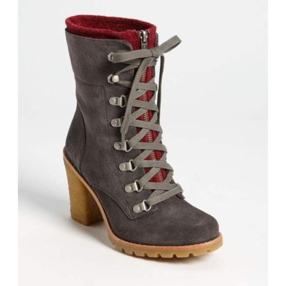 64277b47acc UGG High Heel Lace Up Boots!