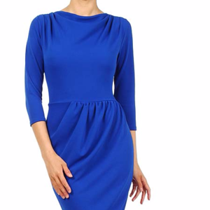 Solid Color, Scoop Neck Dress with a Tulip Skirt