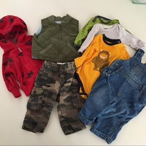 Lot Of baby boy's clothes Camo Overalls Hoodie