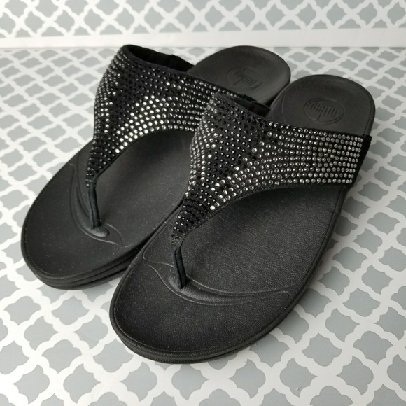 2acd3c1f9 FitFlop Shoes -  FitFlop  Sz 10 Black Diamond Flip Flops Sandal
