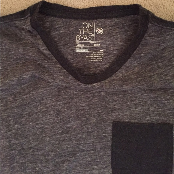 on the byas Shirts - Men's ON THE BYAS Pocket Tee