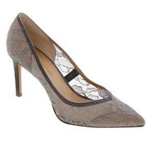 📍Price Drop📍 NIB Banana Republic Grey Lace Heels