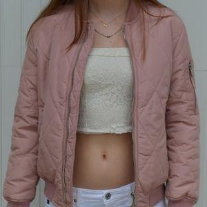 Pink Zara Bomber Jacket