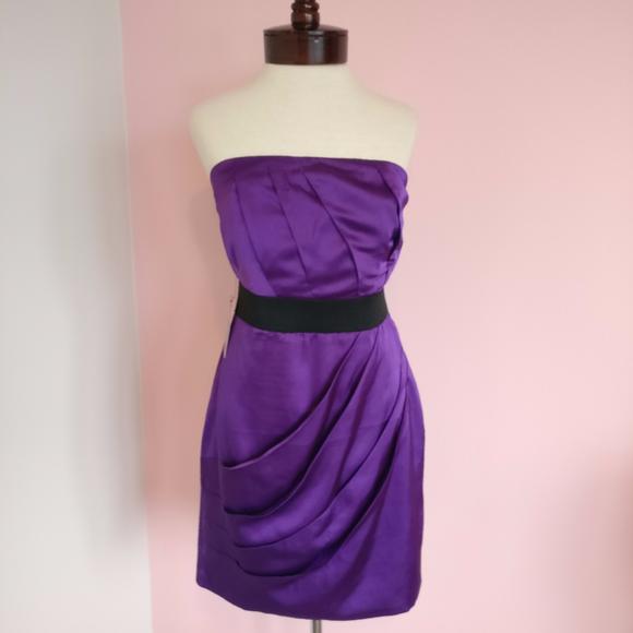 Express Dresses & Skirts - EXPRESS Strapless Purple Dress Brand New