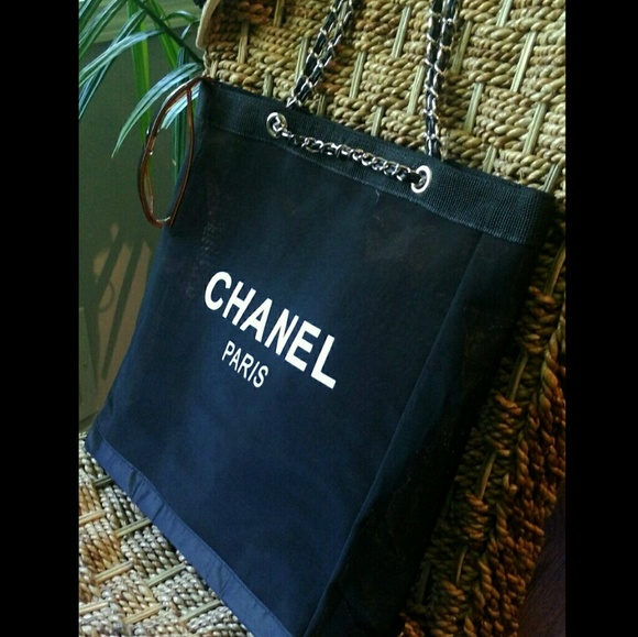 e976863e790 Chanel Bags   Vip Gift Bag Mesh Tote Beach Bag Shopper   Poshmark