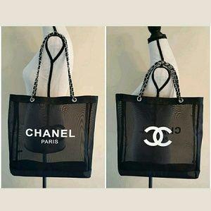 a5d5054f889f Chanel Bags | Vip Gift Bag Mesh Tote Beach Bag Shopper | Poshmark
