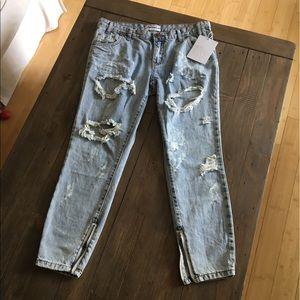 One Teaspoon Jeans - One Teaspoon Freebirds Boyfriend in Brando