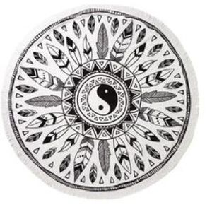 Tribal print round towel