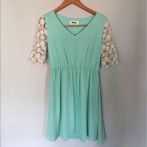 Hippie Love teal dress 👗